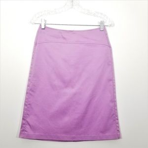 Sisley Purple A Line Stretchy Career Skirt